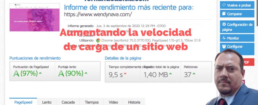 Aumentando la velocidad de un sitio web