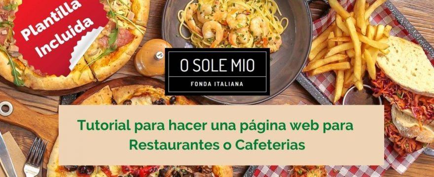 como hacer una pagina para restaurantes