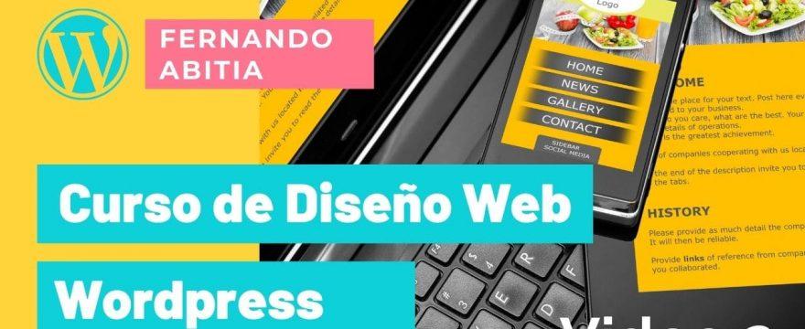 Curso 2 de diseño web con wordpress