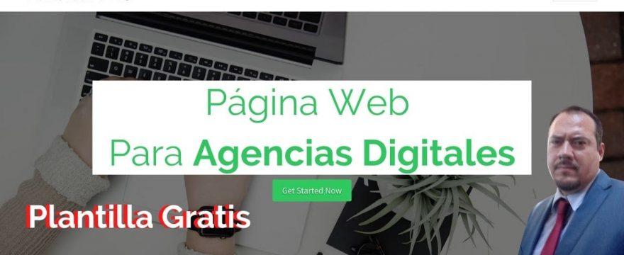 Página web para una agencia de marketing Digital