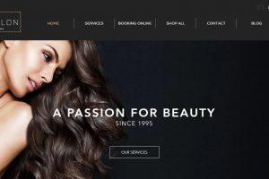 pagina web de salon de belleza